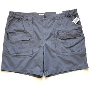 Men's Big & Tall Side Elastic Cargo Shorts NWT